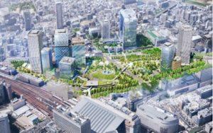 うめきた2期地区開発事業の完成予想図