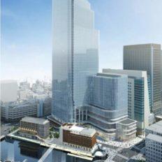 日本橋一丁目中地区再開発の完成予想図イメージ
