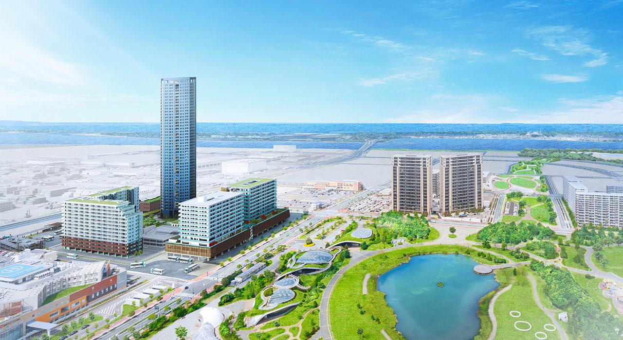 センターマークスタワー・センターマークス街区の完成予想図イメージ