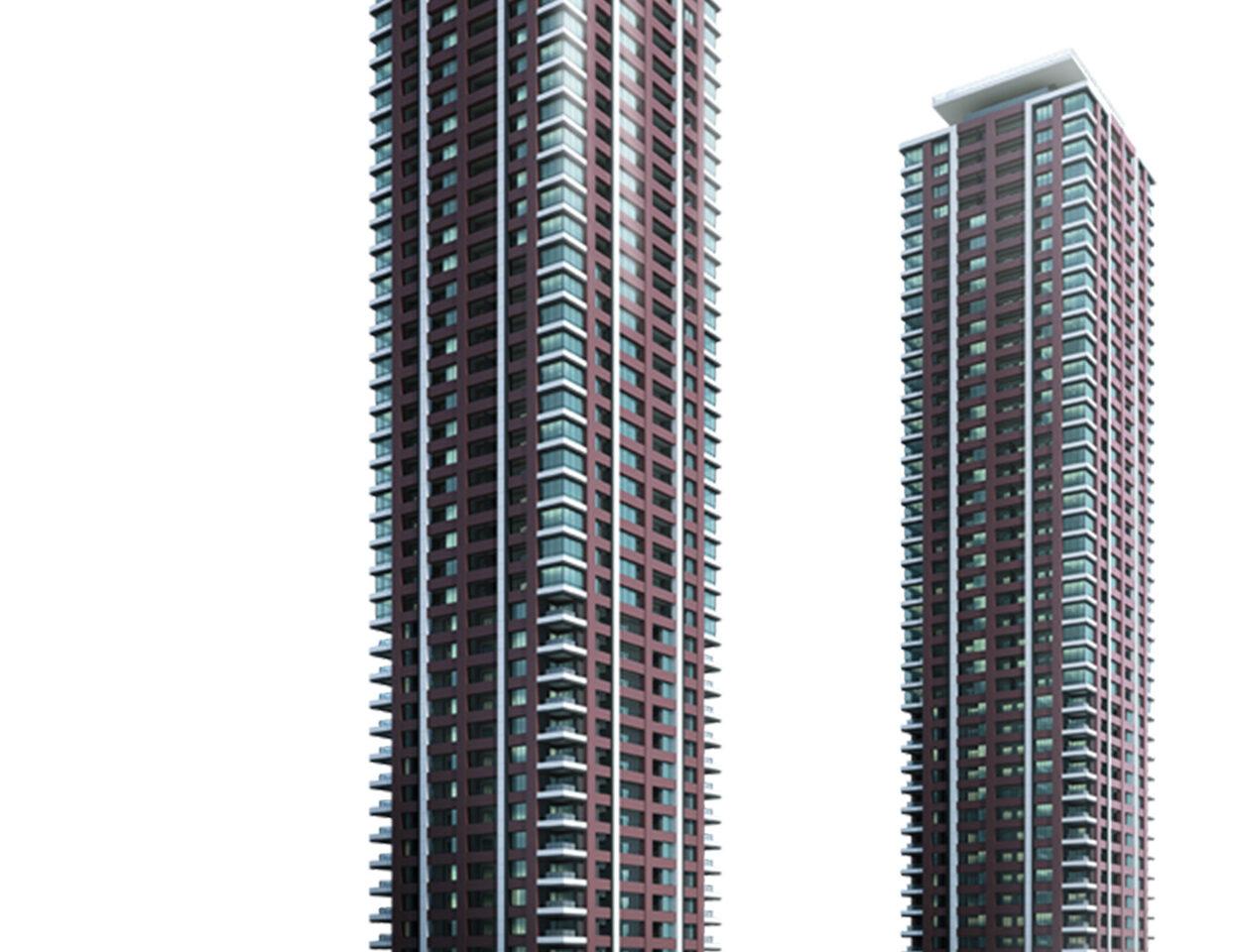 アイランドシティ オーシャン&フォレストタワーレジデンスの完成予想図