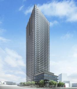 大崎駅西口F南地区第一種市街地再開発事業の外観イメージ