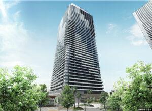 幕張ベイパークミッドスクエアタワーの完成予想図イメージ