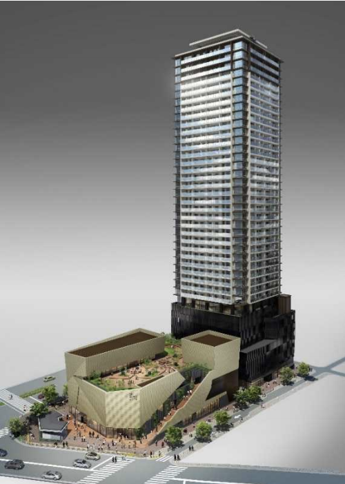 ブリリアタワー西新の外観イメージ