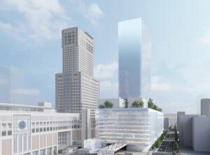 札幌駅交流拠点北5西1・西2地区市街地再開発の完成予想図イメージ
