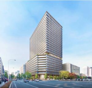 淀屋橋駅西地区再開発事業の完成予想図