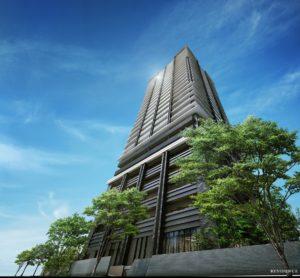 MJR熊本 ザ・タワーの完成予想図イメージ