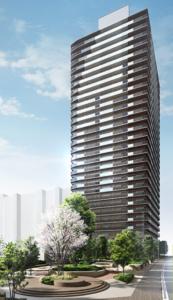 パークシティ柏の葉キャンパスサウスマークタワーの完成予想図イメージ