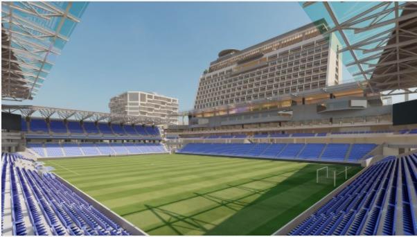 長崎スタジアムシティの完成予想図