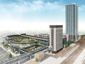 多治見駅南地区市街地再開発事業の完成予想図イメージ