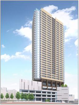 板橋駅板橋口地区第一種市街地再開発事業の完成予想図イメージ