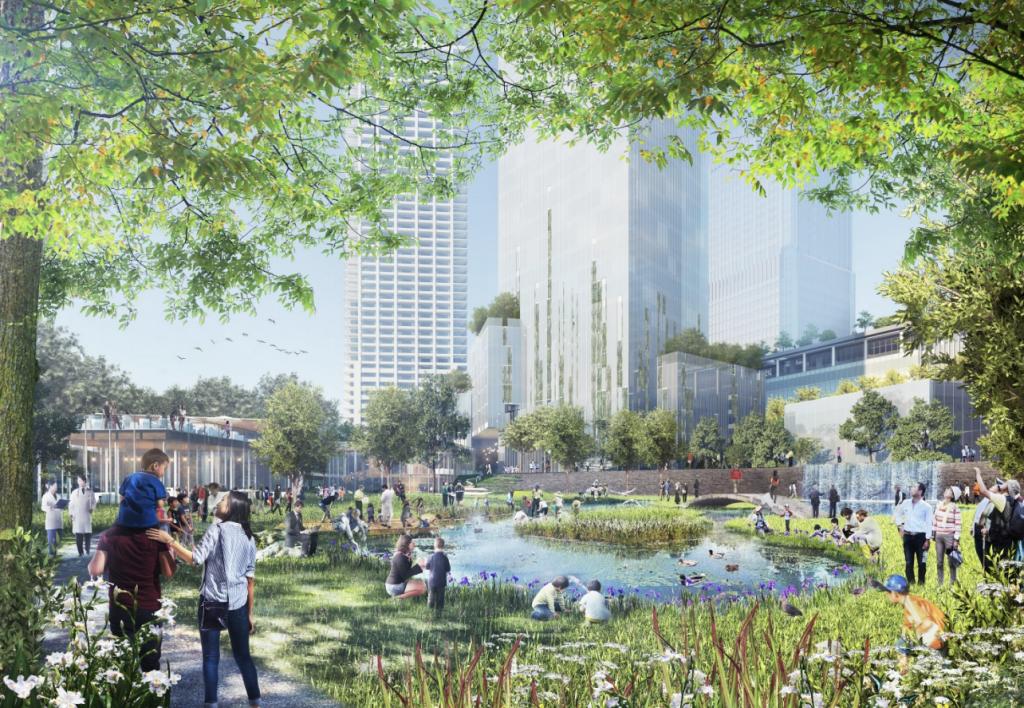 北梅田駅と一体的に開発が行われるうめきた2期開発プロジェクトによって誕生予定の緑地公園