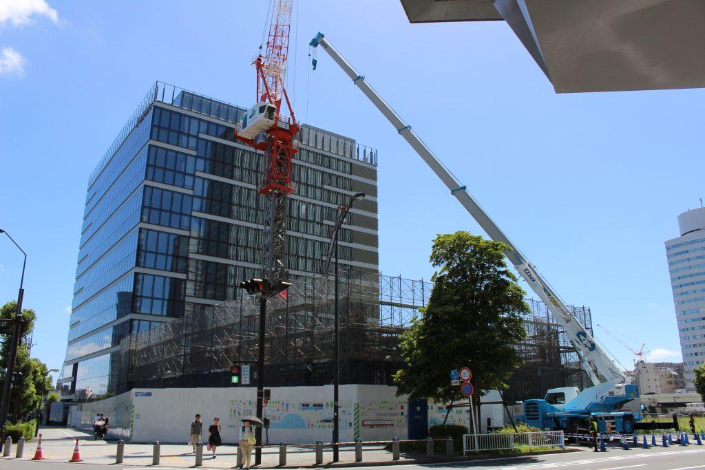 京急グループ本社ビルの工事の様子2