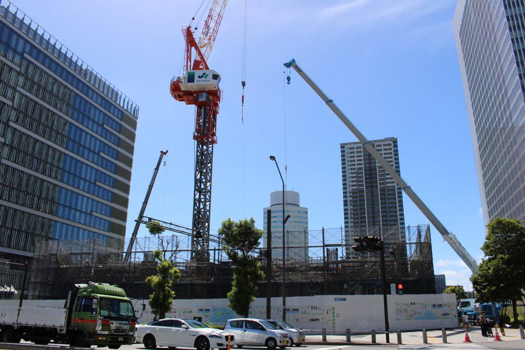 京急グループ本社ビルの工事の様子1
