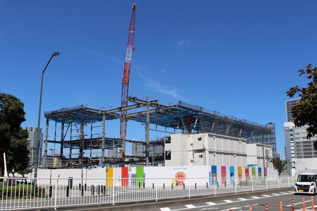 横浜アンパンマンこどもミュージアム移転プロジェクトの工事の様子1