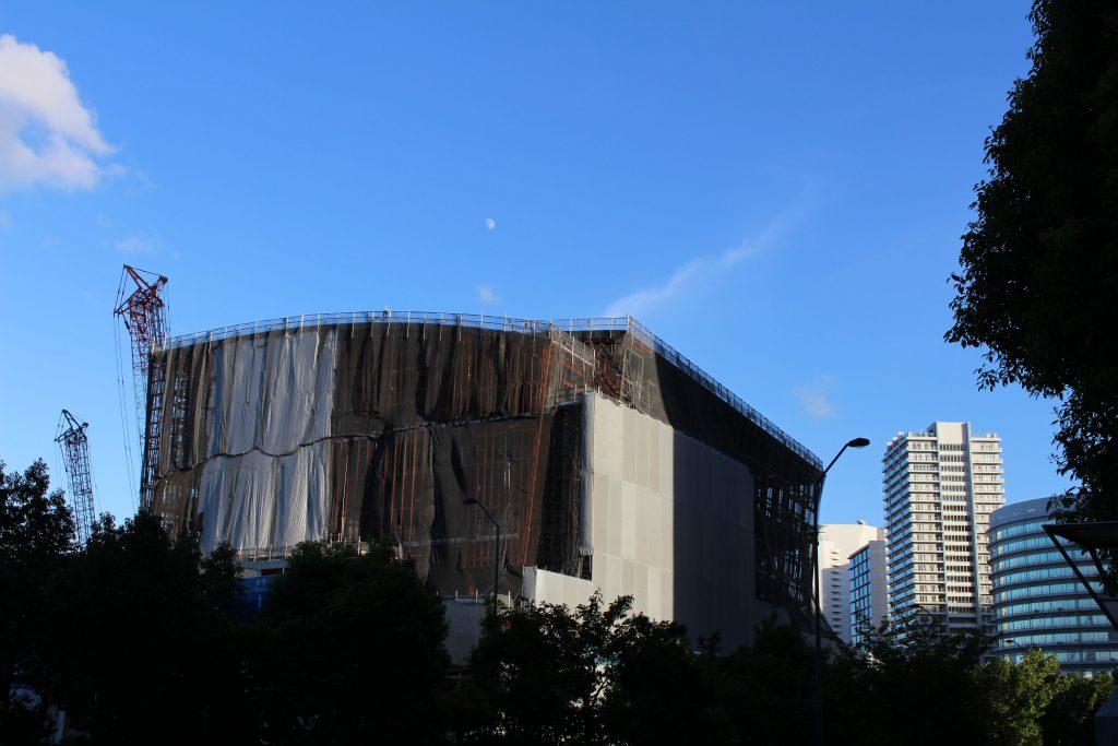 パシフィコ横浜ノースの工事の様子1