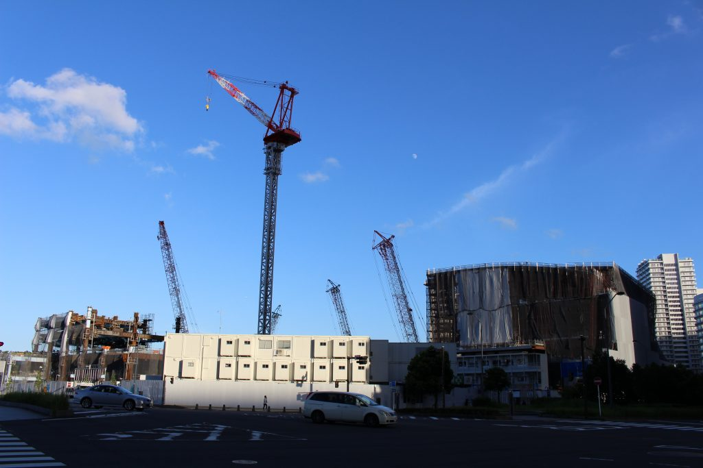みなとみらい21中央地区20街区ホテル施設の工事の様子