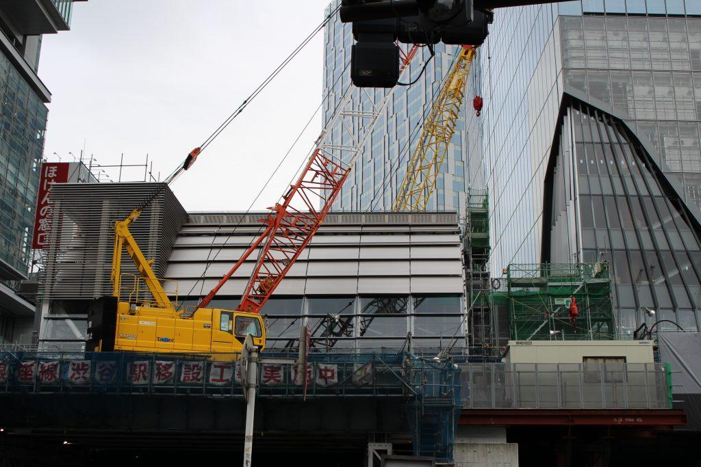 銀座線渋谷駅の工事の様子