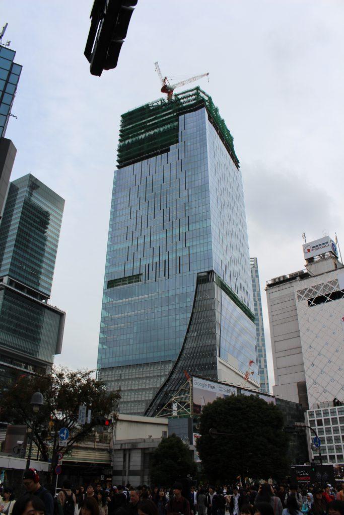 渋谷スクランブルスクエアの工事現場