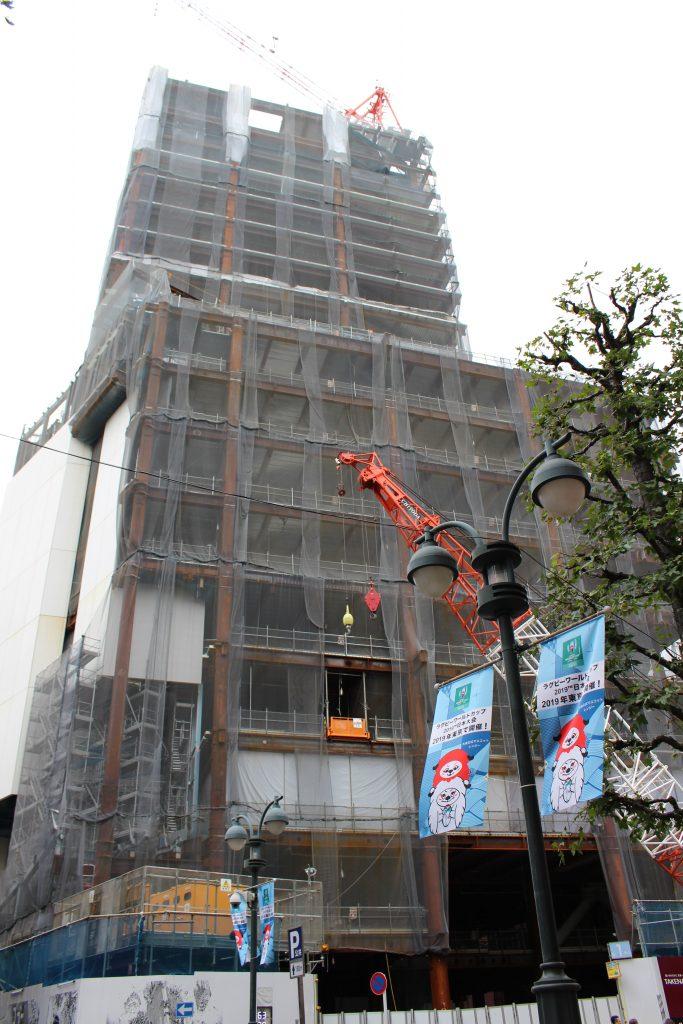 渋谷パルコ建替えの工事の様子2