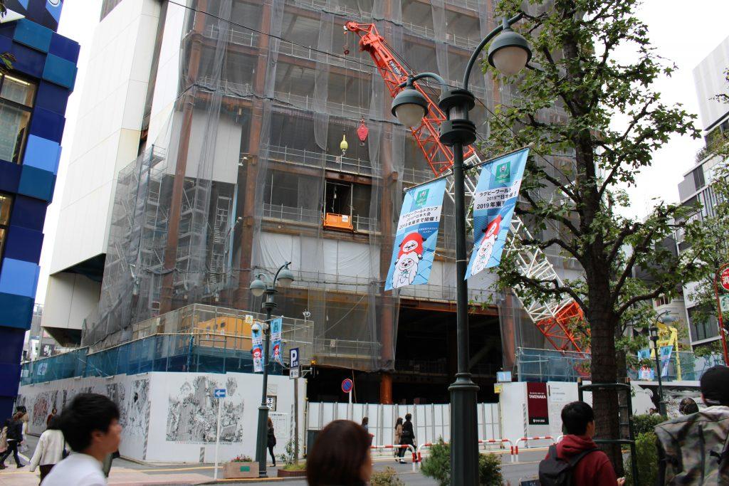 渋谷パルコ建替えの工事の様子3