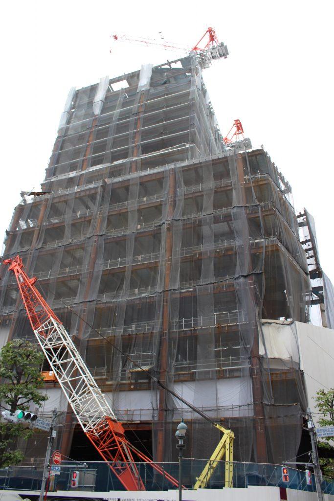 渋谷パルコ建替えの工事の様子1