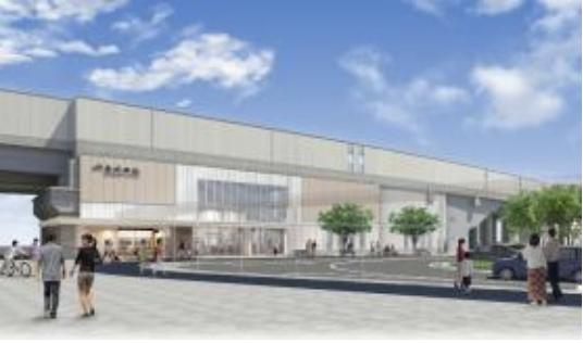 おおさか東線南吹田駅の完成予想イメージ