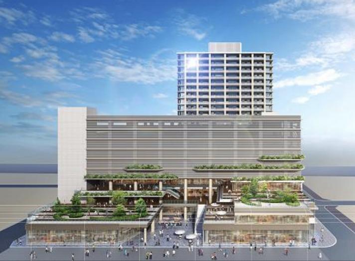 湊町三丁目C街区地区第一種市街地再開発(銀天街L字地区)の外観イメージ1