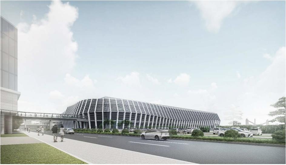 名古屋市国際展示場(ポートメッセなごや)の新第1展示場完成予想イメージ