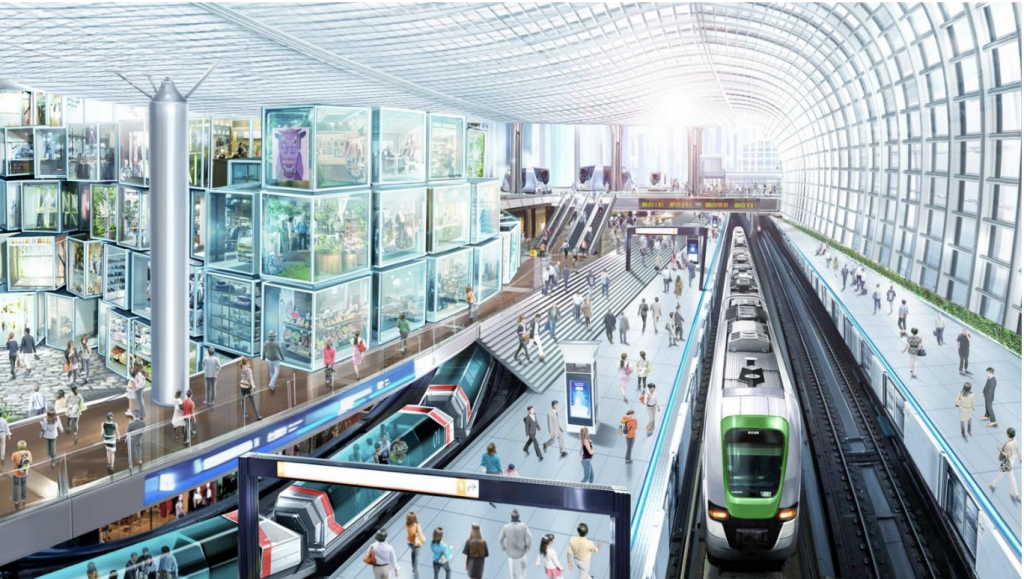 大阪メトロ夢洲駅の開発構想イメージ