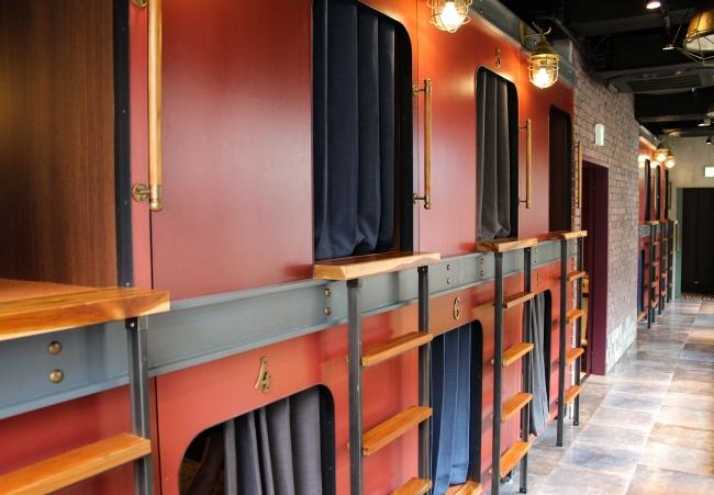 ハレタビトラベラーズヨコハマの寝台の外装の写真
