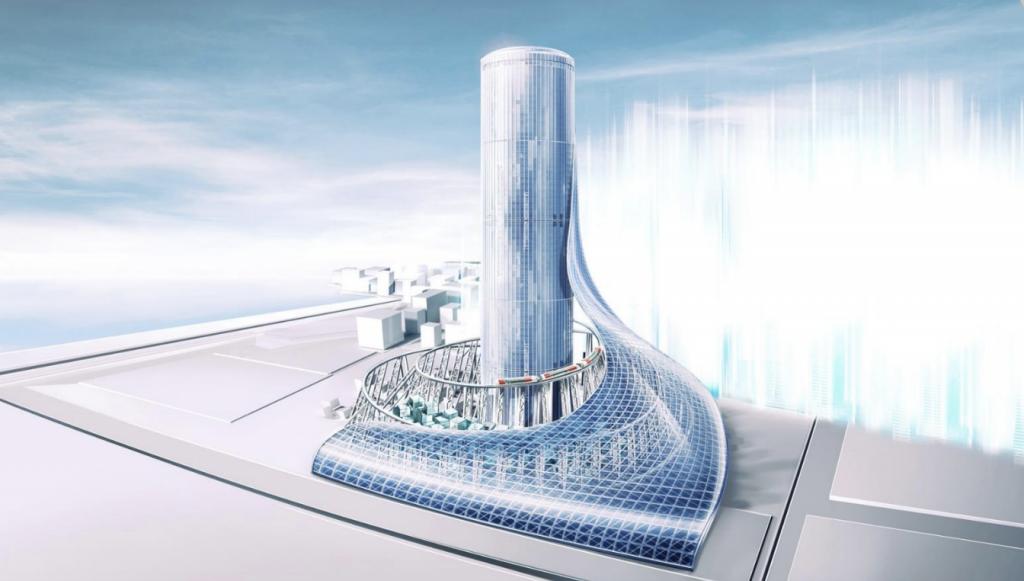 大阪メトロ夢洲駅タワービル開発構想イメージ