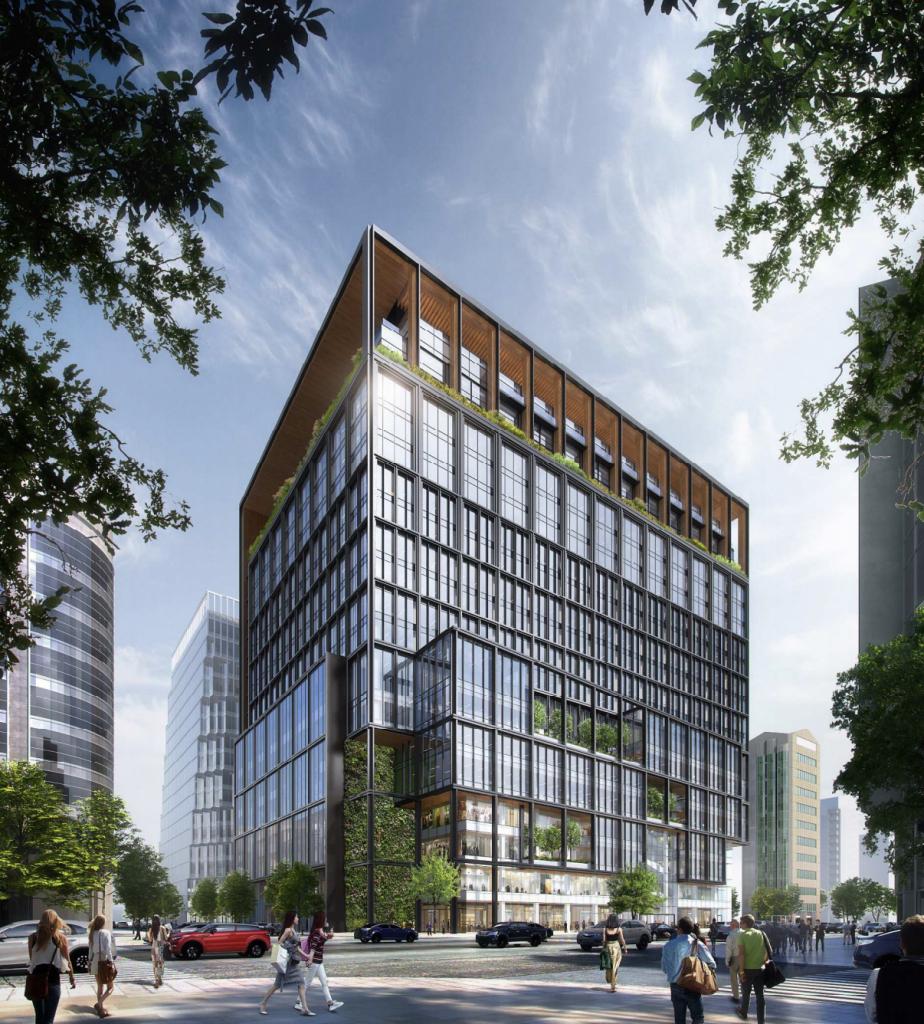 「福ビル街区建替プロジェクト」の完成予想イメージ