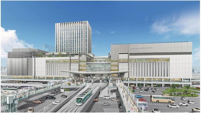 JR広島駅ビルの外観イメージ