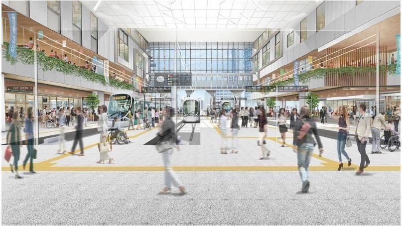 広島電鉄の広島駅の内観イメージ