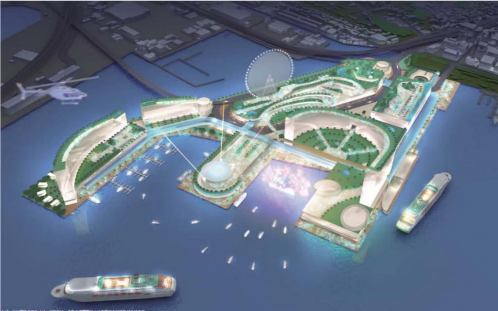 横浜市のIR(統合型リゾート・カジノ)構想案が明らかに。山下埠頭へ誘致の是非を検討へ。いつどこに計画?のイメージ図3