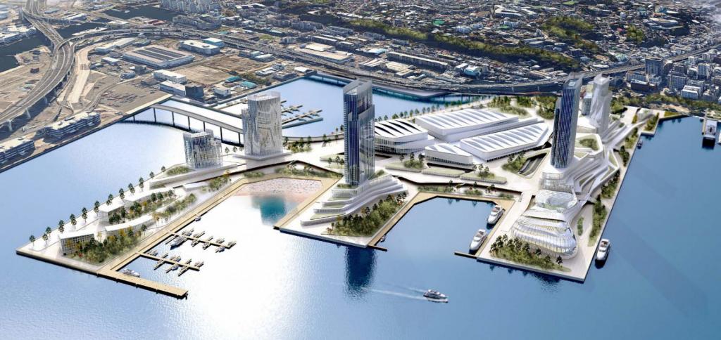 横浜市のIR(統合型リゾート・カジノ)構想案が明らかに。山下埠頭へ誘致の是非を検討へ。いつどこに計画?のイメージ図1