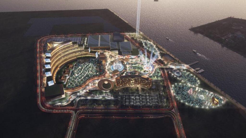 MGM・オリックスのIR(統合型リゾート)計画の完成予想図イメージ6