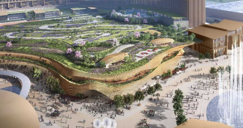 MGM・オリックスのIR(統合型リゾート)計画の完成予想図イメージ3
