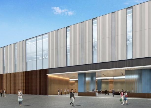 京王線連続立体交差事業により高架化される桜上水駅の外観デザインイメージ
