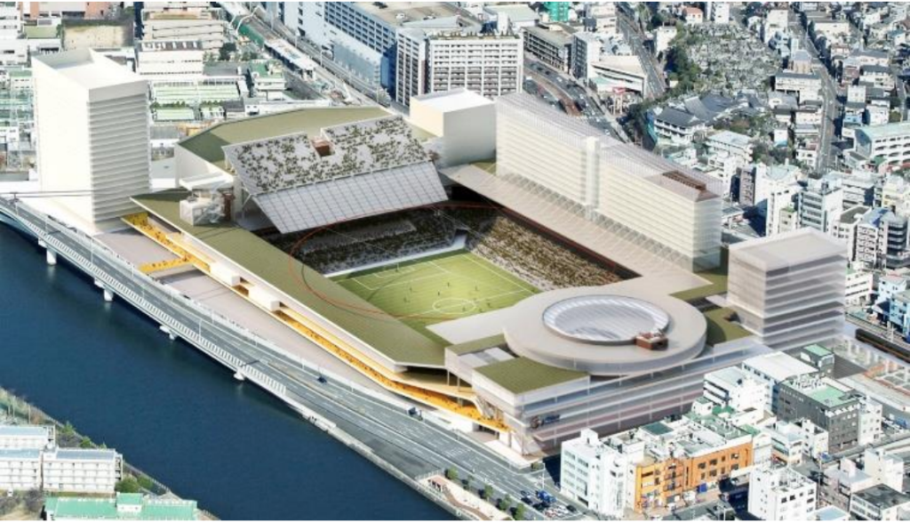 長崎スタジアムシティのA案イメージ