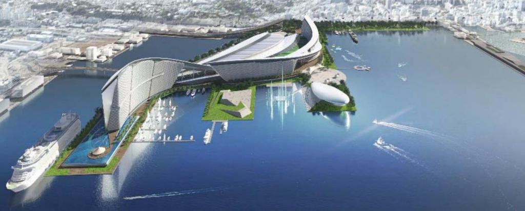 横浜市のIR(統合型リゾート・カジノ)構想案が明らかに。山下埠頭へ誘致の是非を検討へ。いつどこに計画?のイメージ図2