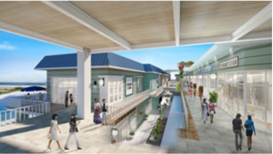 沖縄豊崎タウンプロジェクトのレストランエリアイメージ画像