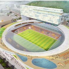 長崎スタジアムシティのB案イメージ