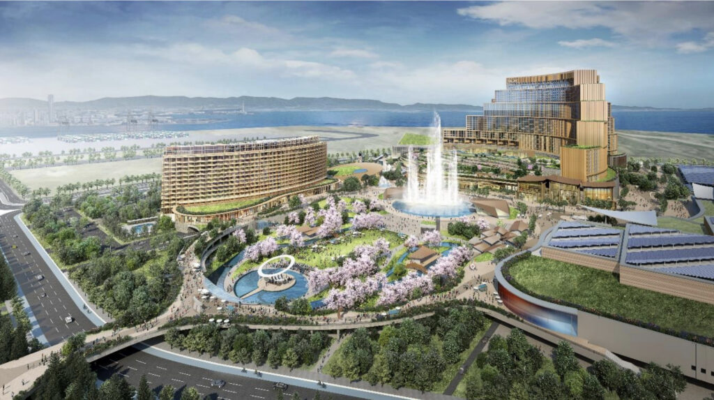 MGM・オリックスのIR(統合型リゾート)計画の完成予想図イメージ1
