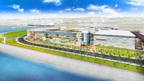 沖縄豊崎タウンプロジェクトの全体外観イメージ画像