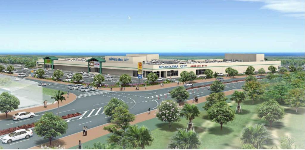 サンエー宮古島シティの完成予想図