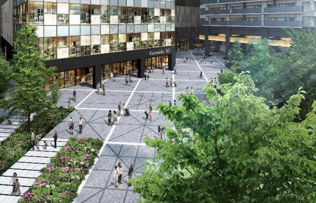 亀戸六丁目計画「プラザ」完成予想図イメージ