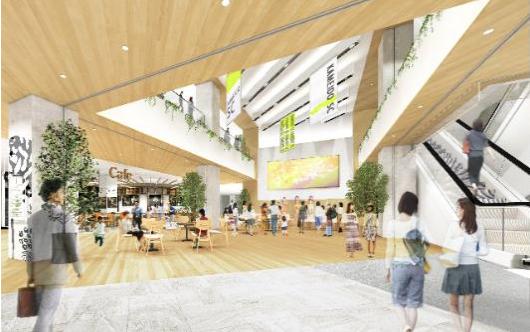 亀戸六丁目計画商業施設内観イメージ
