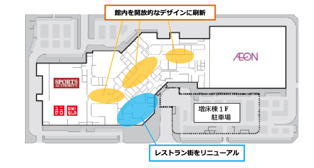 イオンモール高知全体構成図1階
