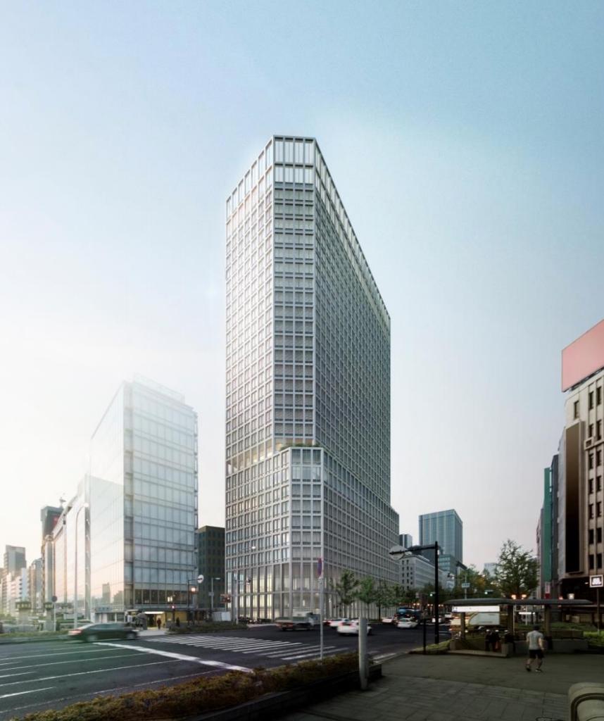 淀屋橋駅東地区都市再生事業外観イメージ